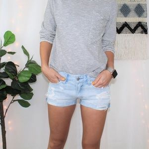 Abercrombie & Fitch Distressed Jean Short 009
